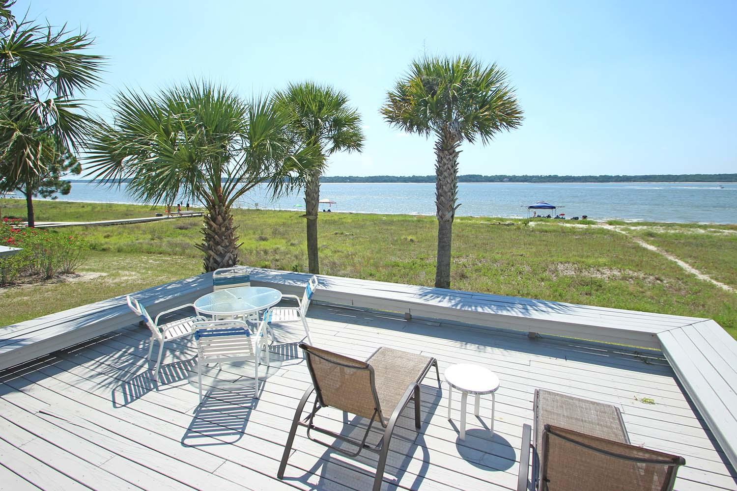 Back deck and view