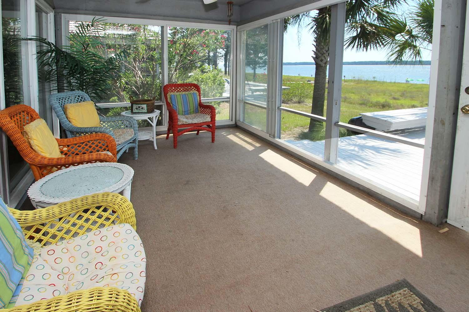 Screened porch off living area