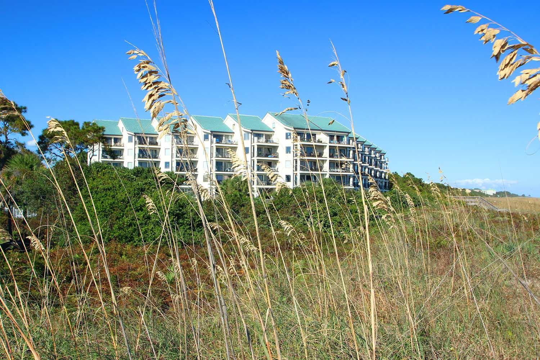 Sea Cloister building from beach