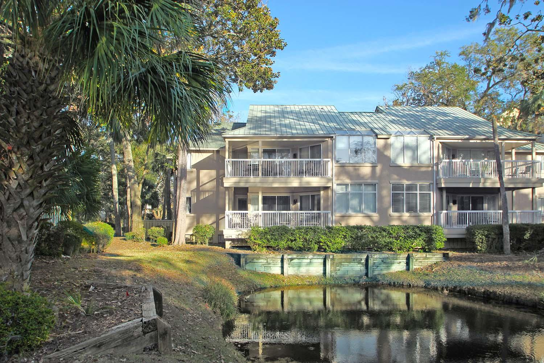 Back of villa by lagoon
