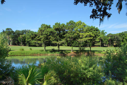 Lagoon and golf view