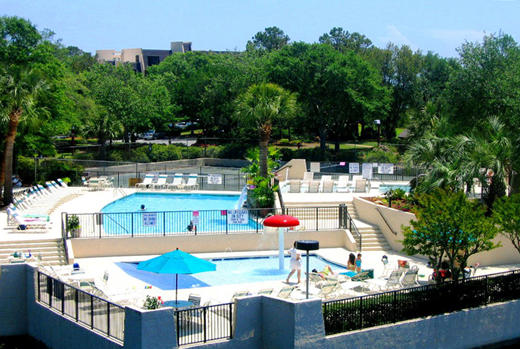Pool complex at Island Club