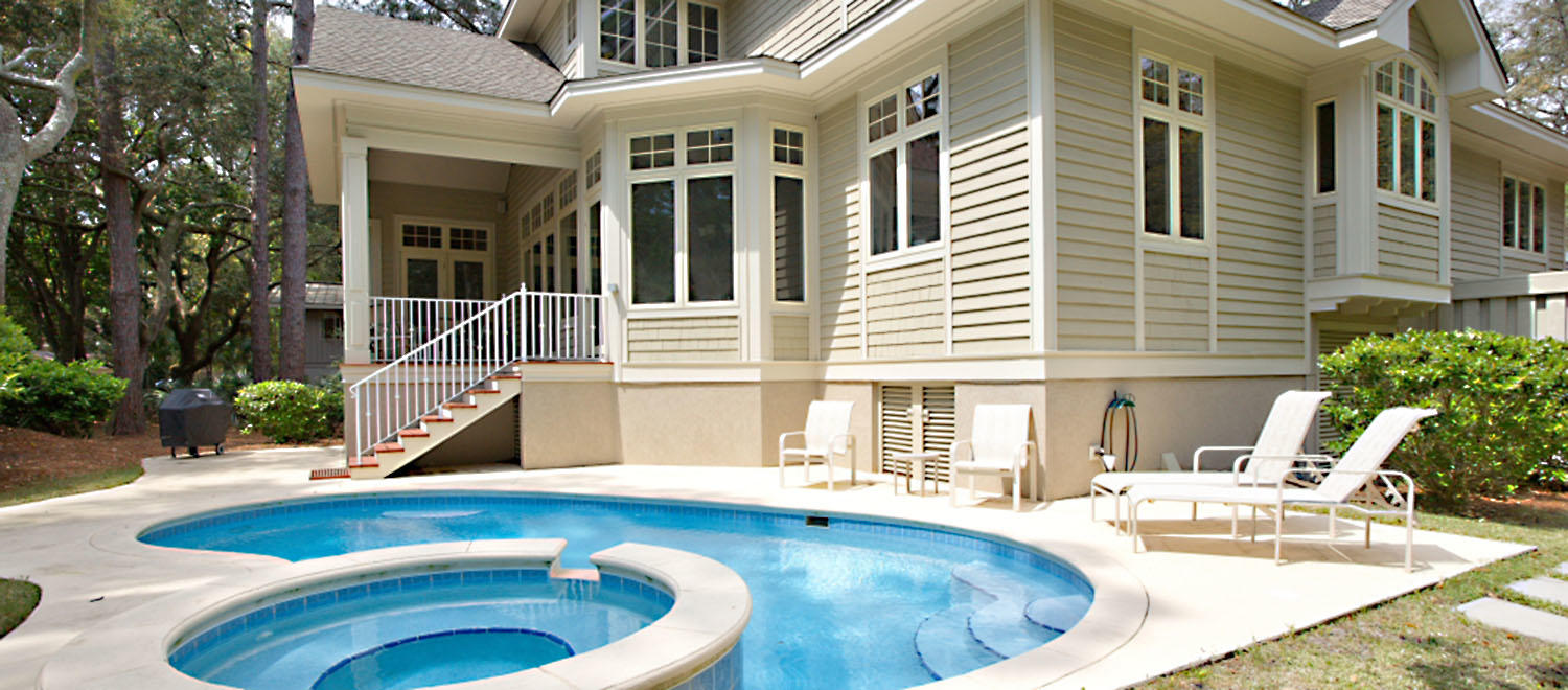 Back of house and pool | Beachside