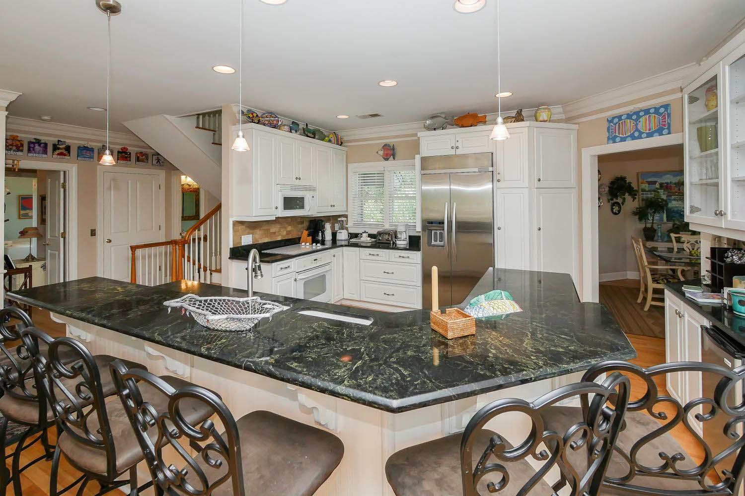 Breakfast bar and kitchen - main level | Almost Heaven