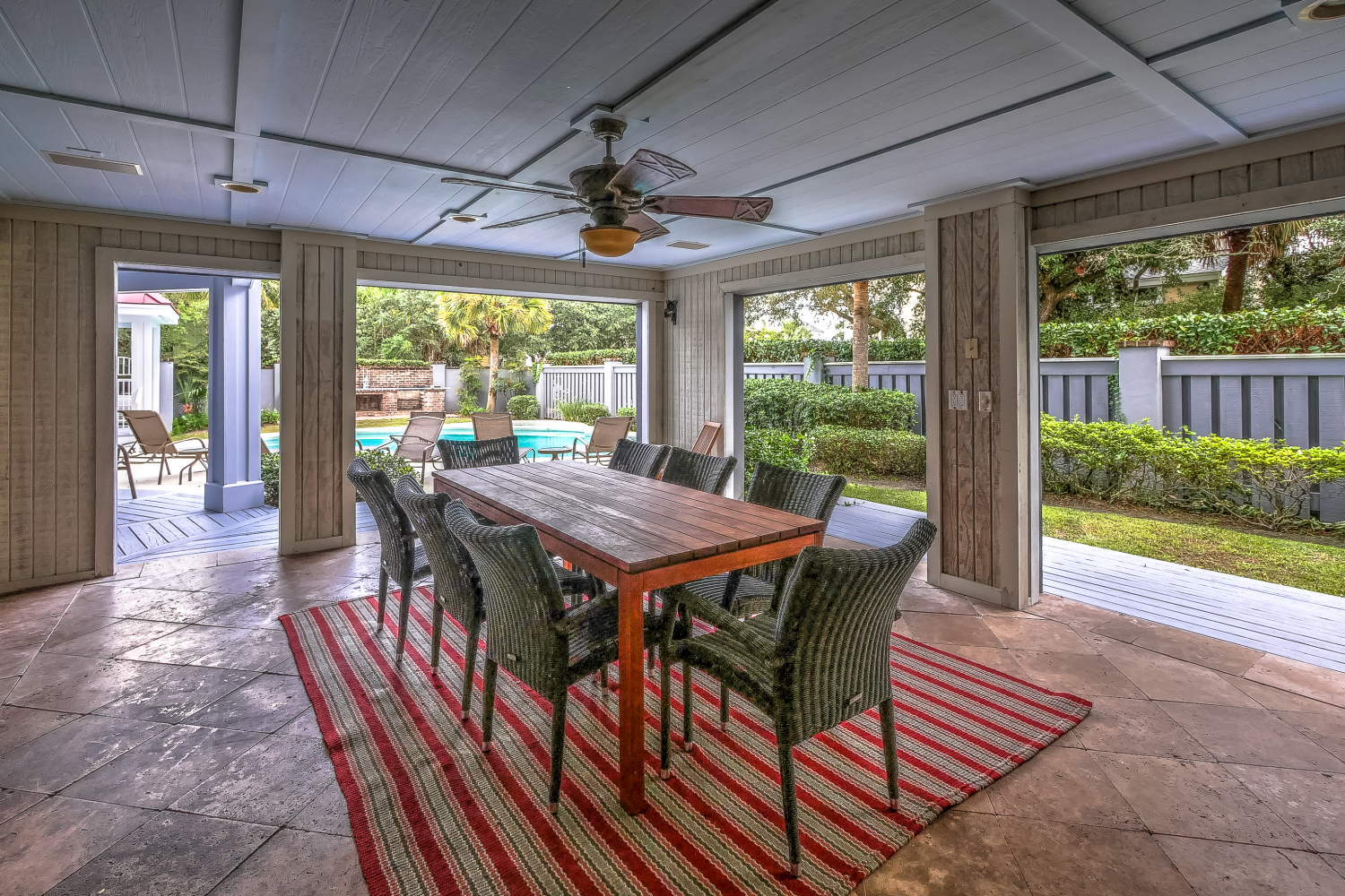 Grill area and table | Atlantic Breeze