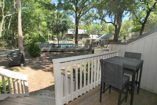 Back deck overlooking pool