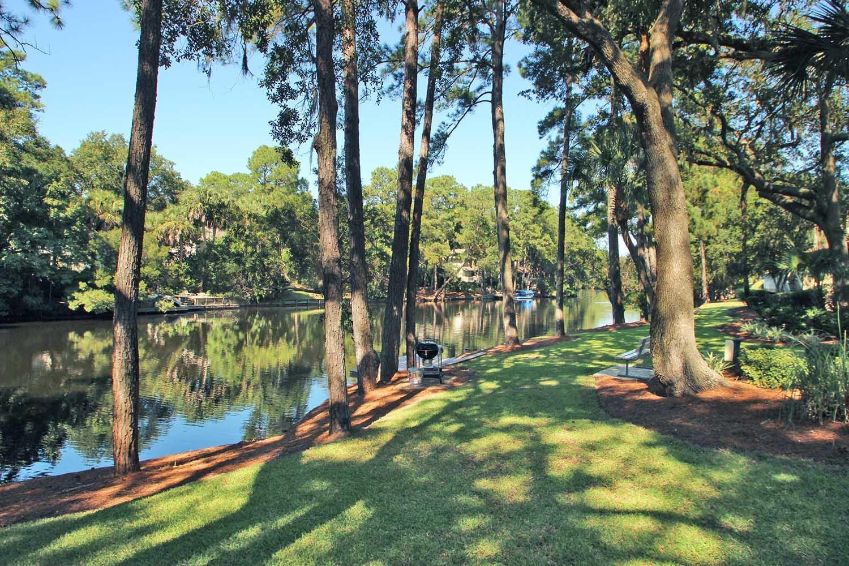 Backyard and lagoon