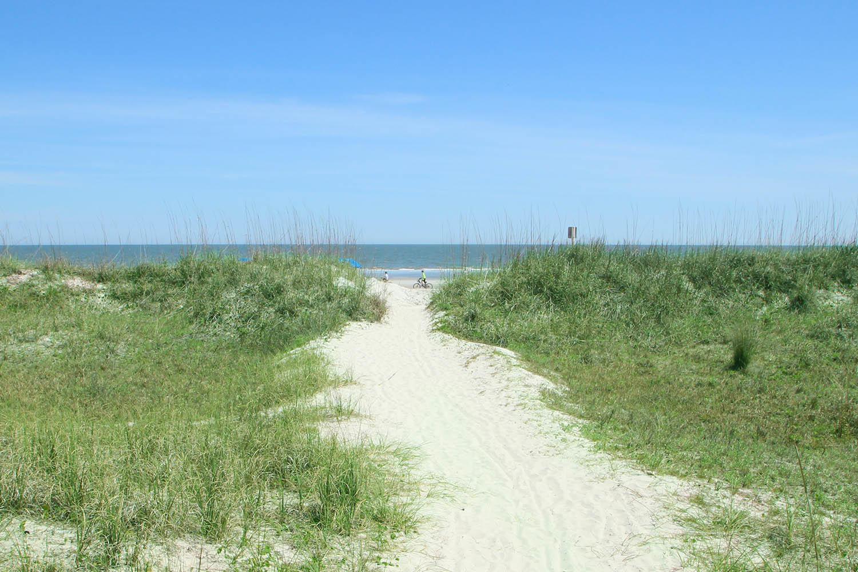 Beach path at Captains Walk