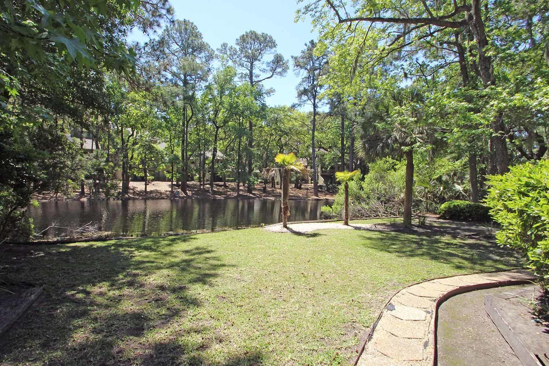 Back yard and lagoon view