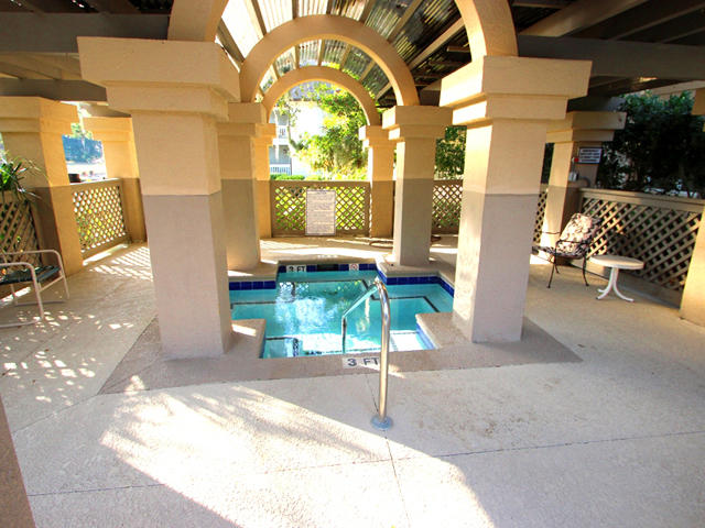 Spa at pool area