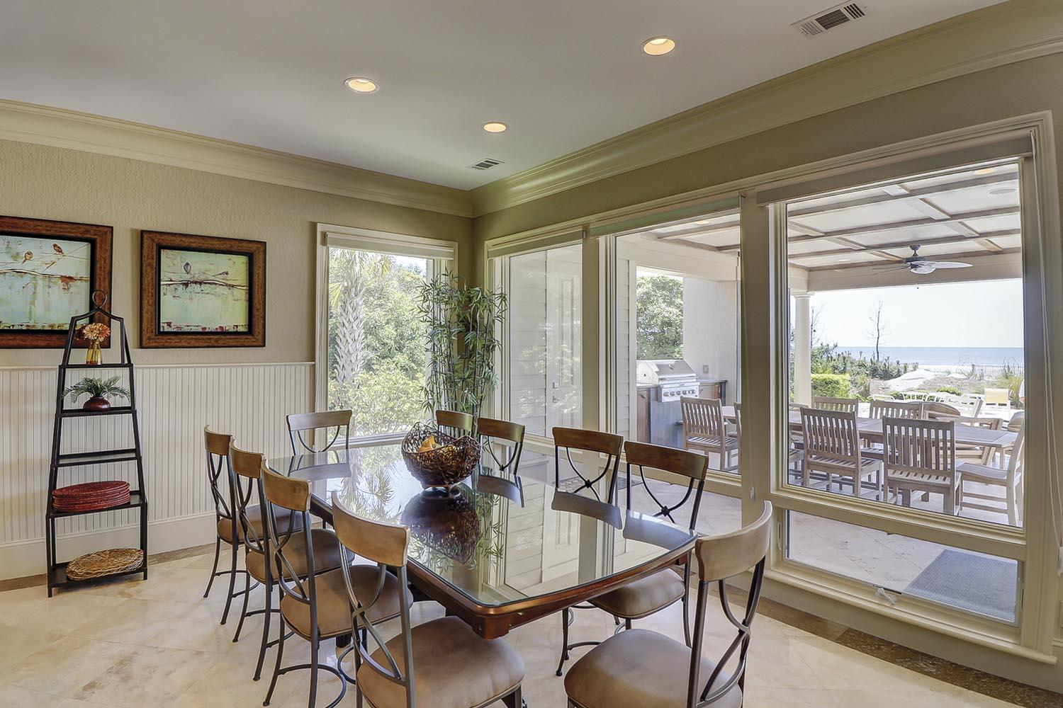 Dining Area with Patio Views | Endless Summer