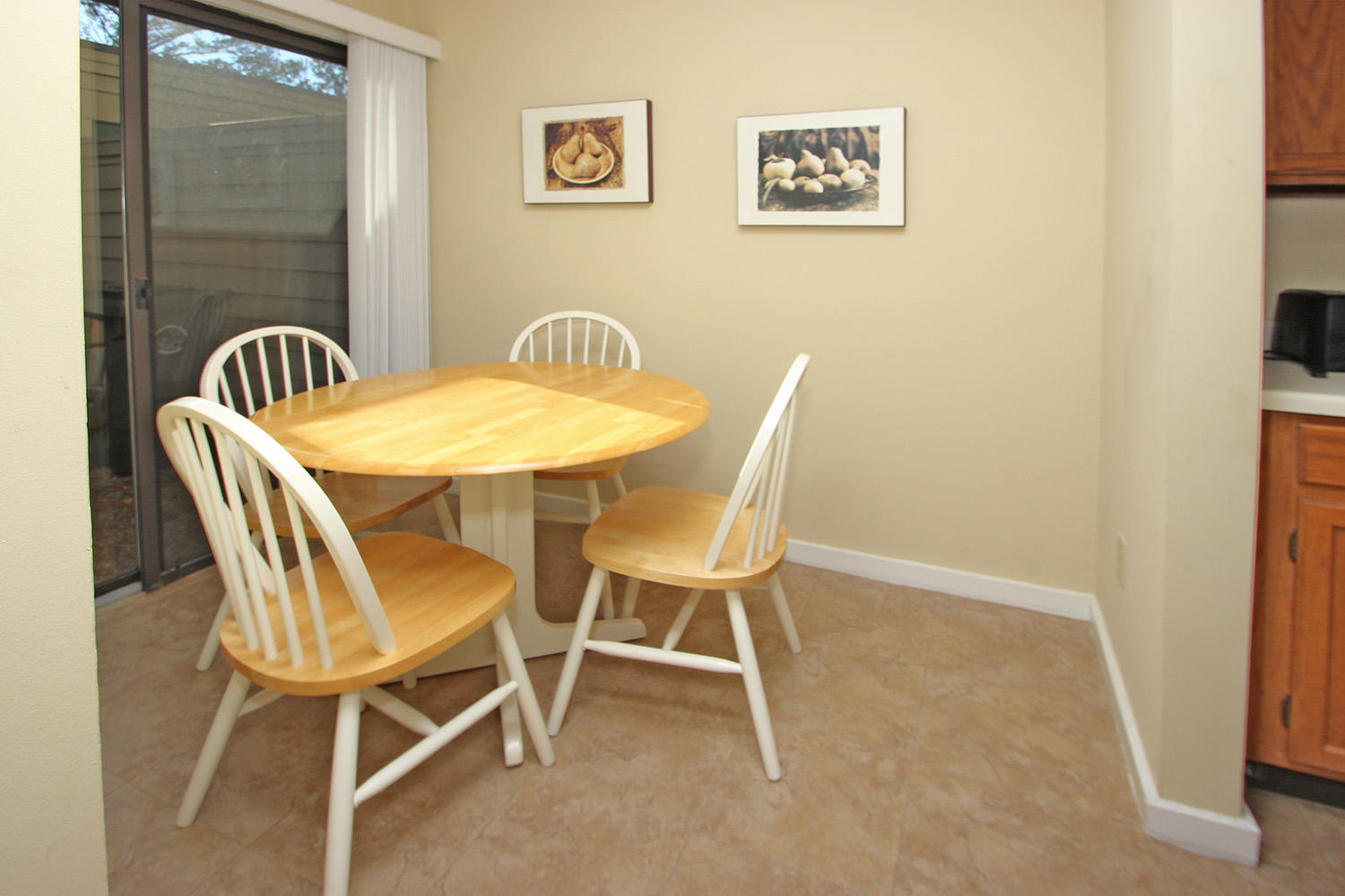 Dinette off kitchen