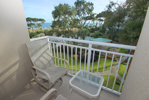 Balcony off living area and guest BR