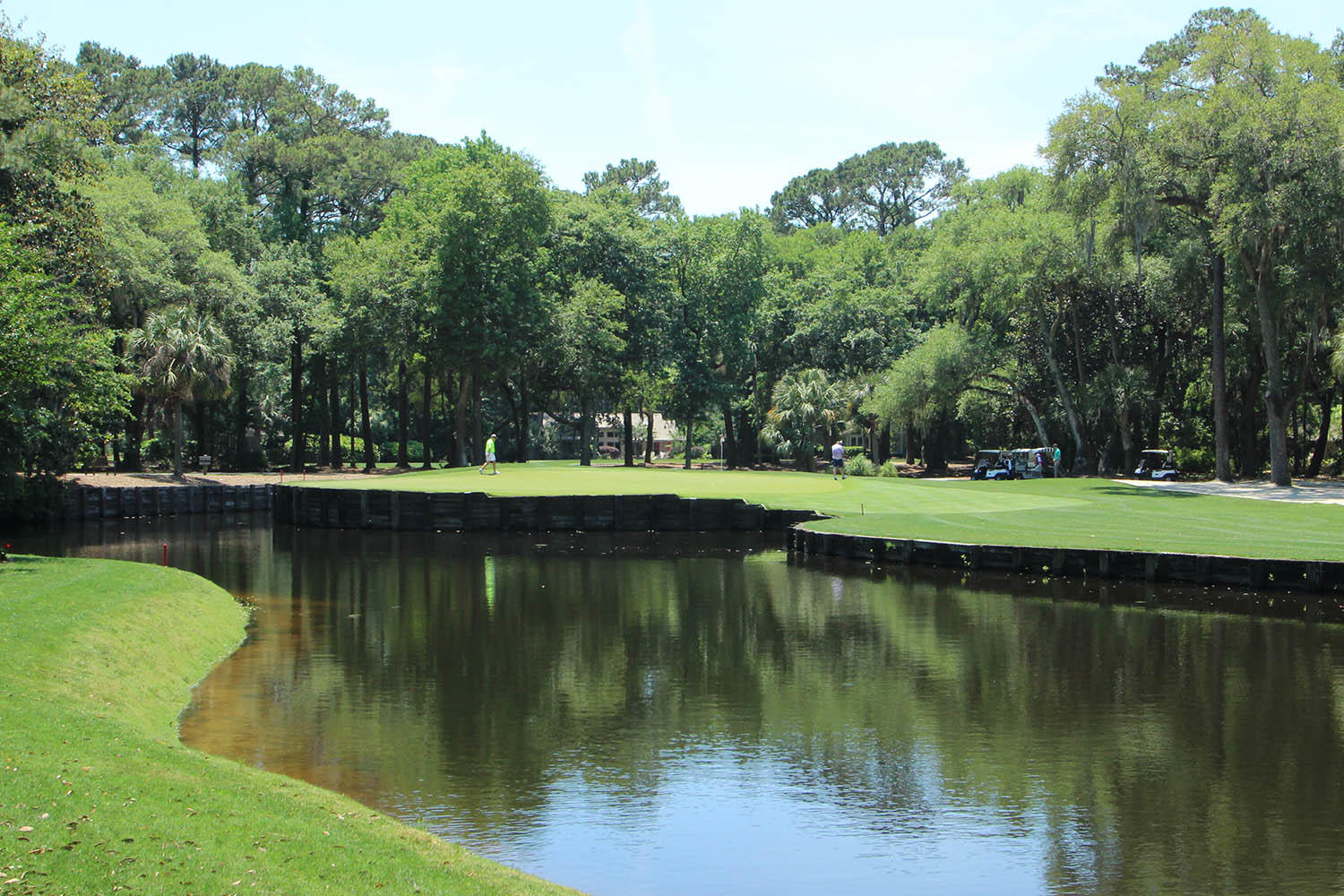 View of 4th hole green