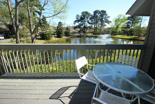 Back deck and lagoon view