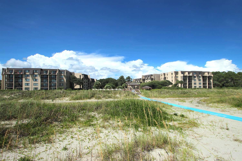 Island Club from the beach