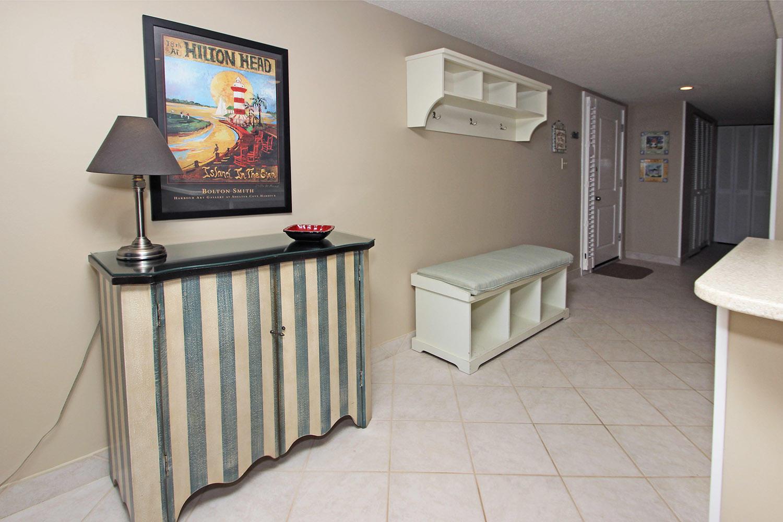 Hallway adjacent kitchen