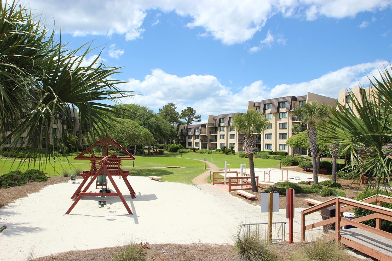 Playground area by beach walk