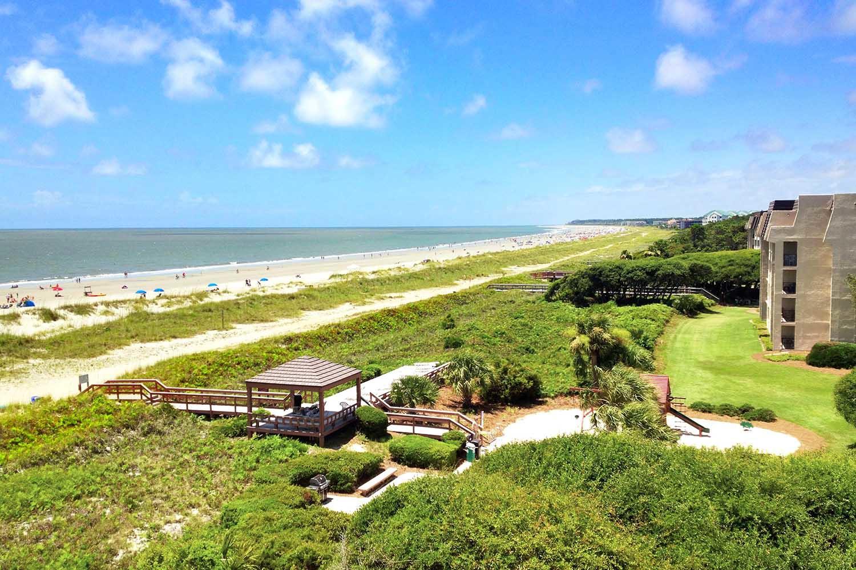 View of beach at Island Club
