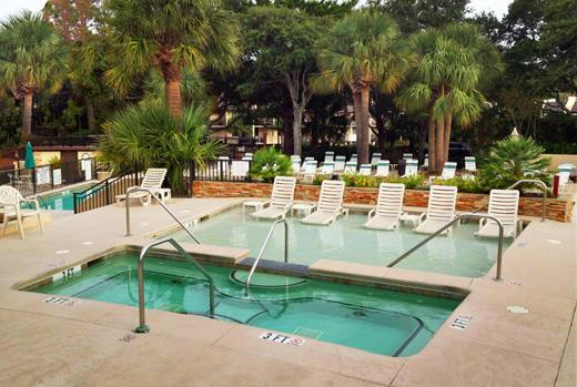 Adult lounge pool and spa