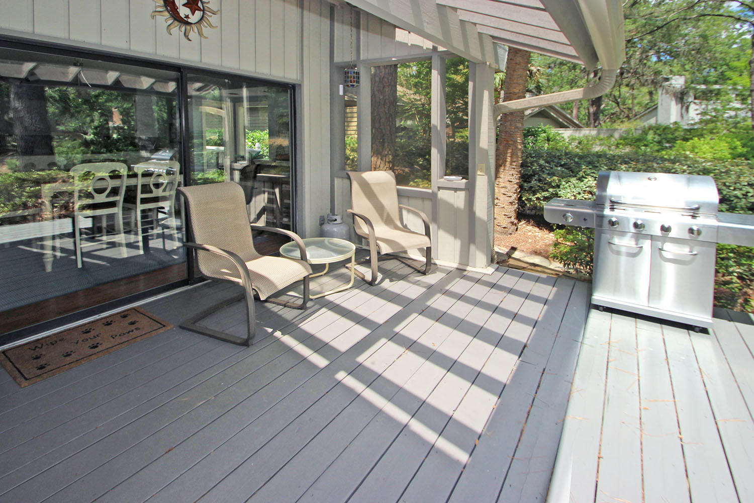 Back deck and grill area