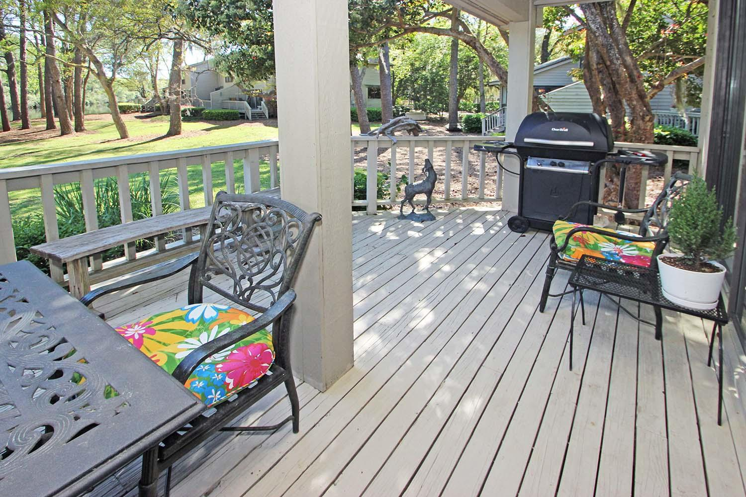 Back deck and grill