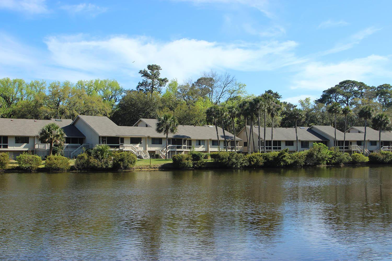 Villa from across lagoon