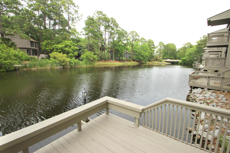 Community dock by lagoon