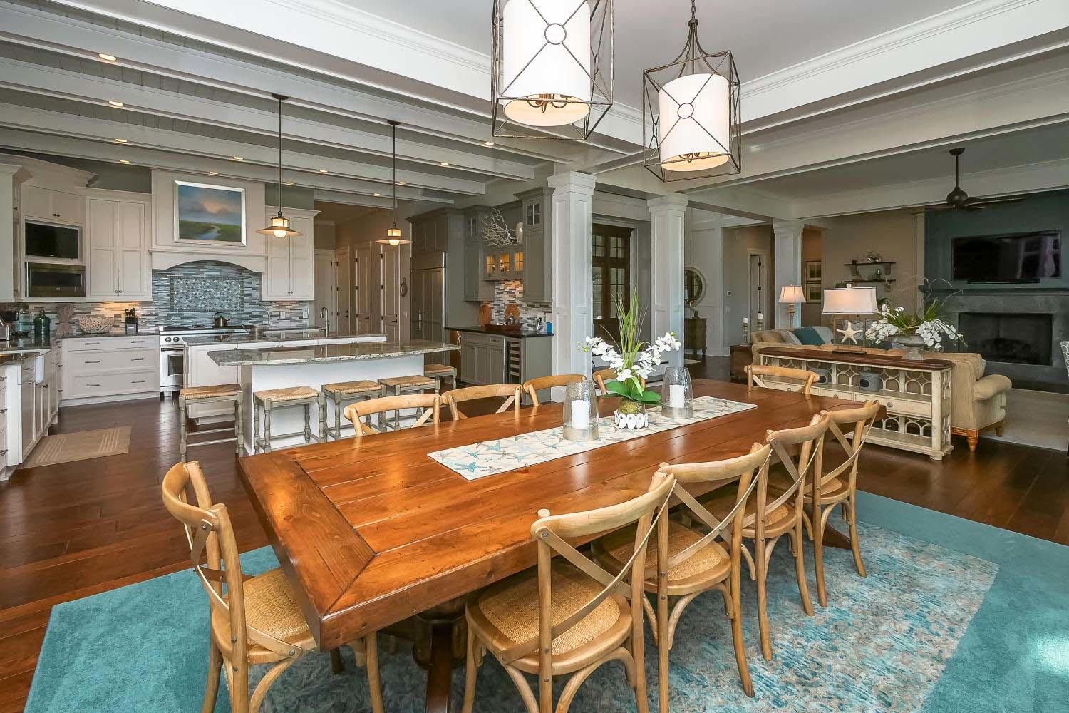 Dining table to kitchen and living room | Ocean Jewel