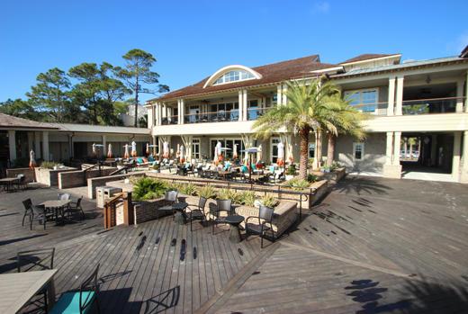 Back deck of Sea Pines Beach Club