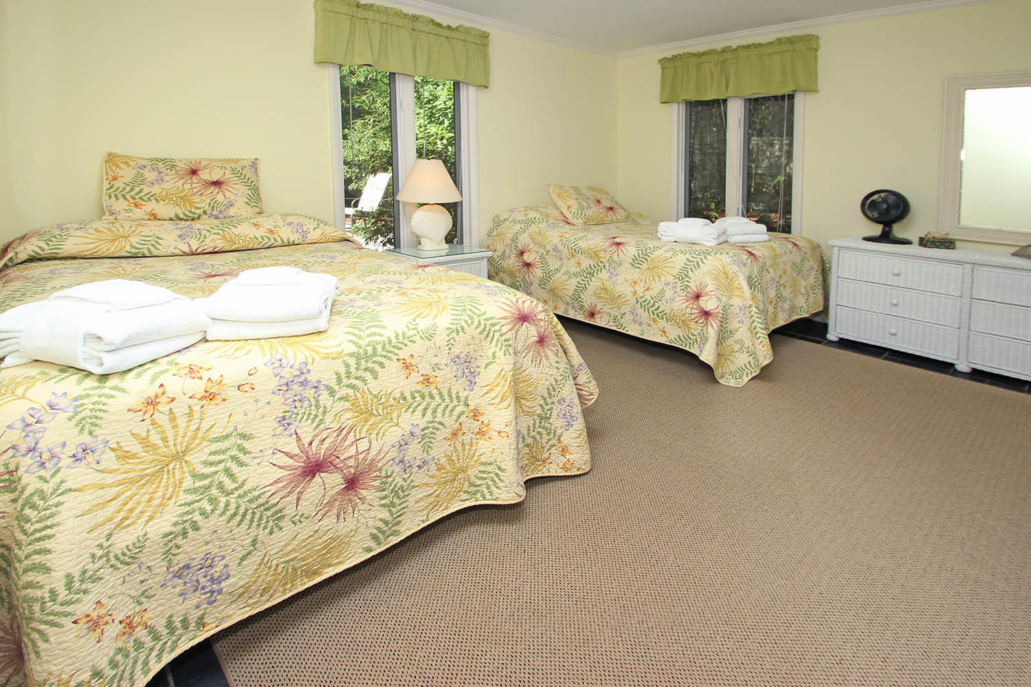 Guest bedroom with two double beds