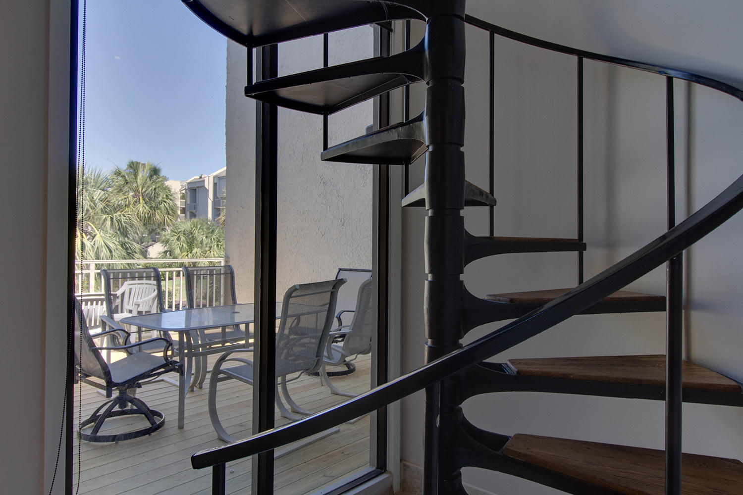 Spiral Staircase and View