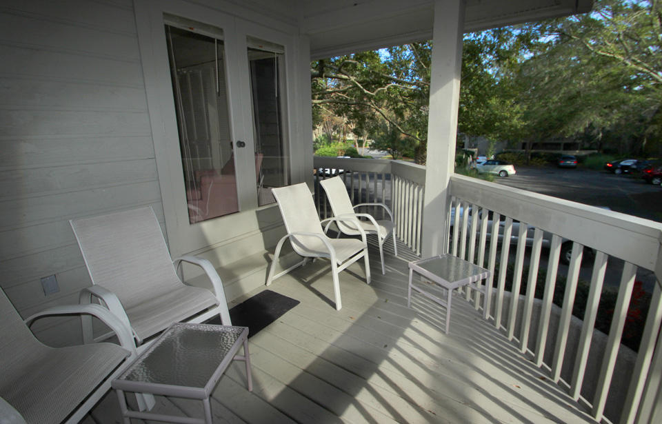 Balcony off living area and master bedroom