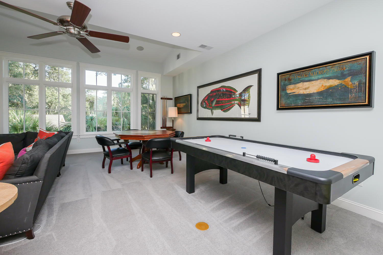 Media and game room - 2nd floor | The Sandy Pelican