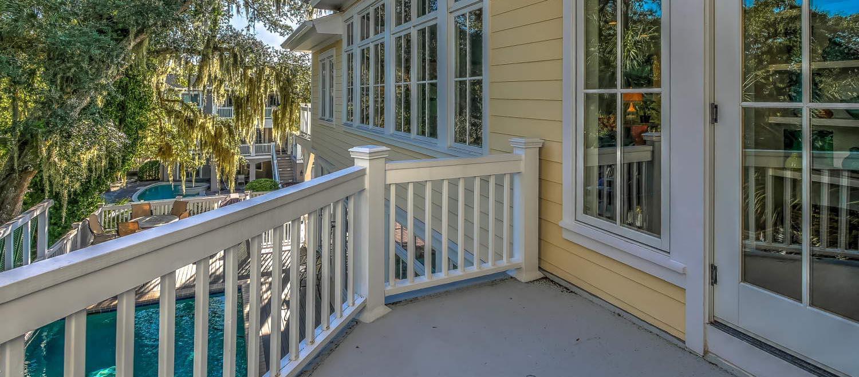 Balcony off 2nd floor | The Sandy Pelican