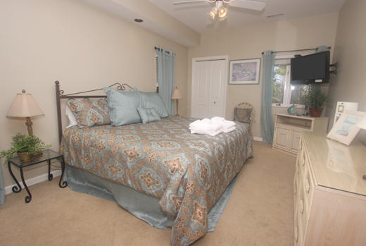 Guest bedroom one with king bed