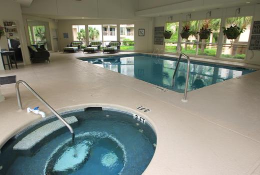 Indoor pool at Villamare