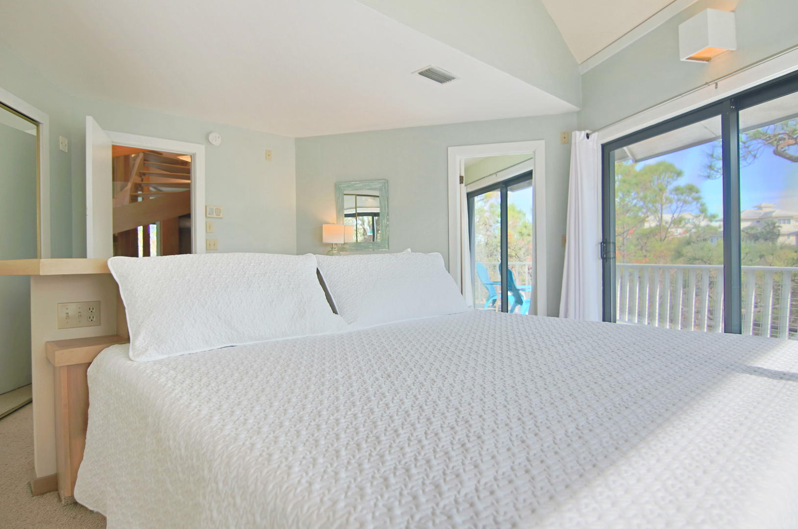 After a long day of sand and sun, unwind on this comfortable King bed