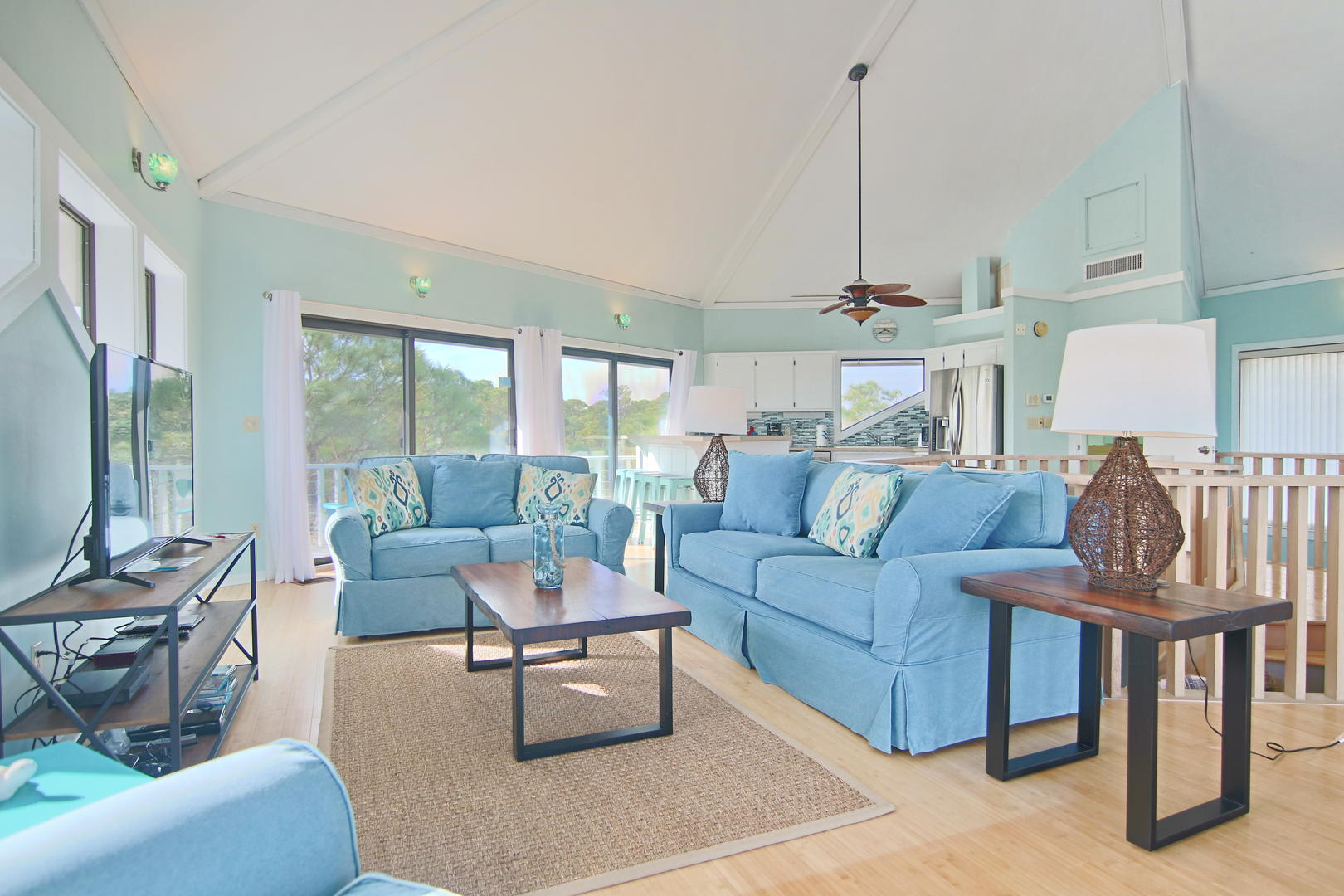 Enjoy family movie night in this charming, spacious Living Area.