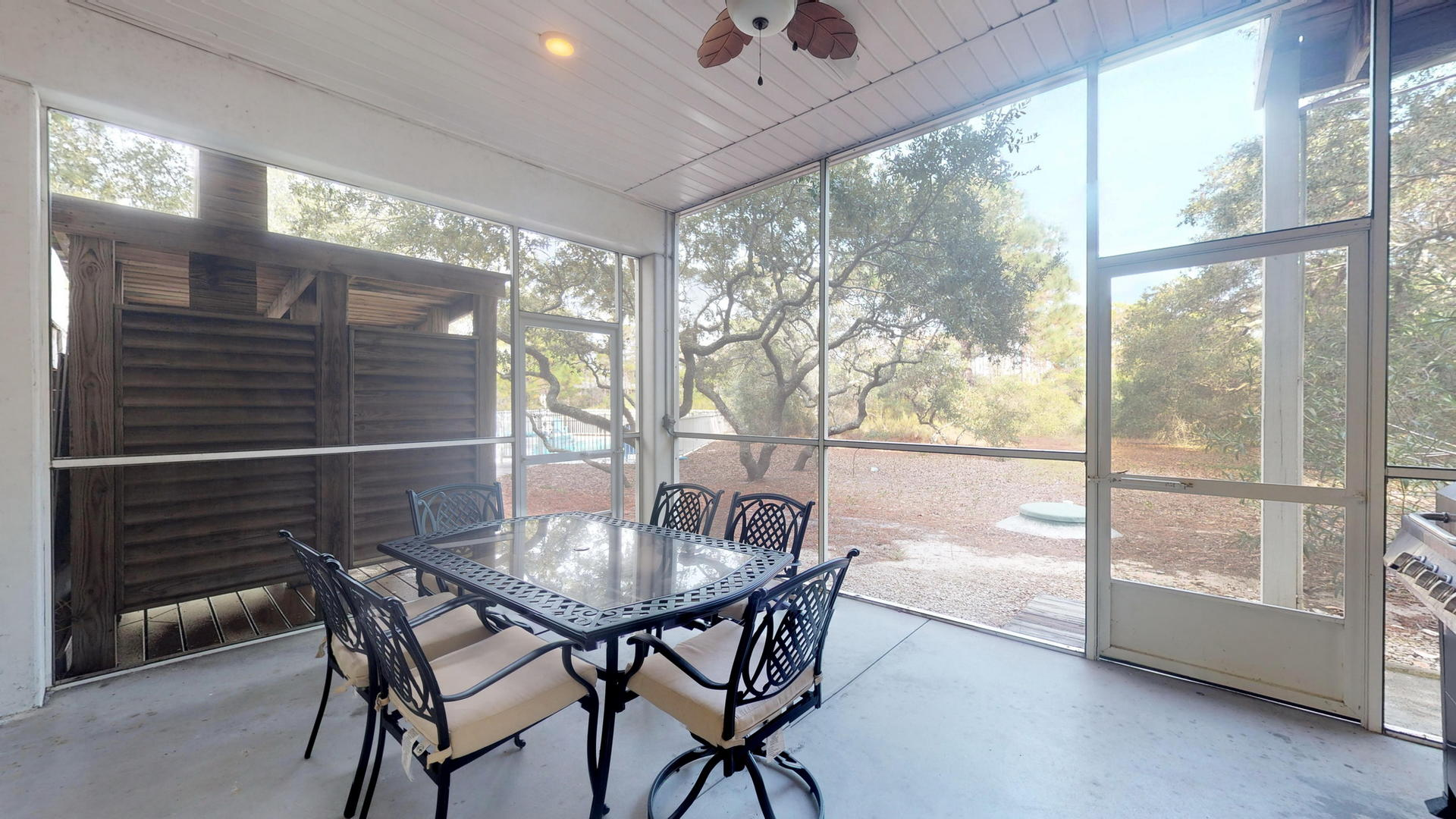 Ground Level Screened Porch