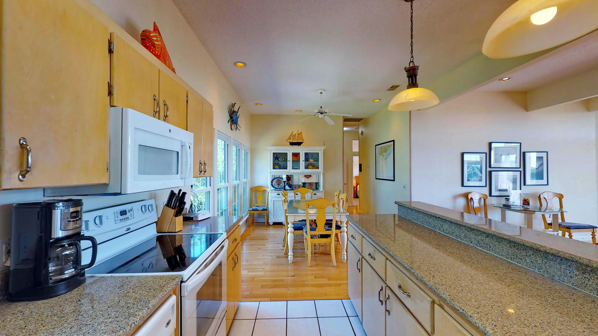 Level 1 Kitchen with abundant Counter and Cabinet Space