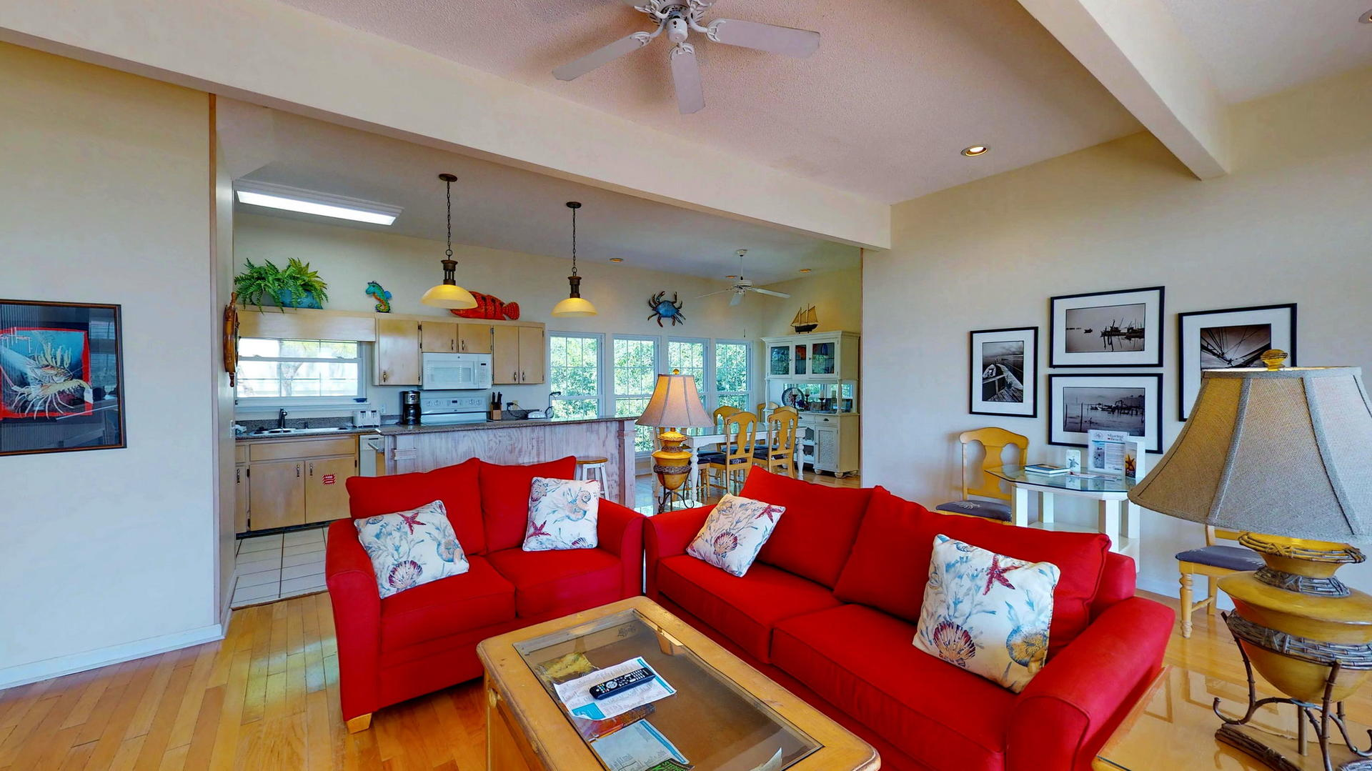 Bright, and spacious Level 1 Living Area with fireplace