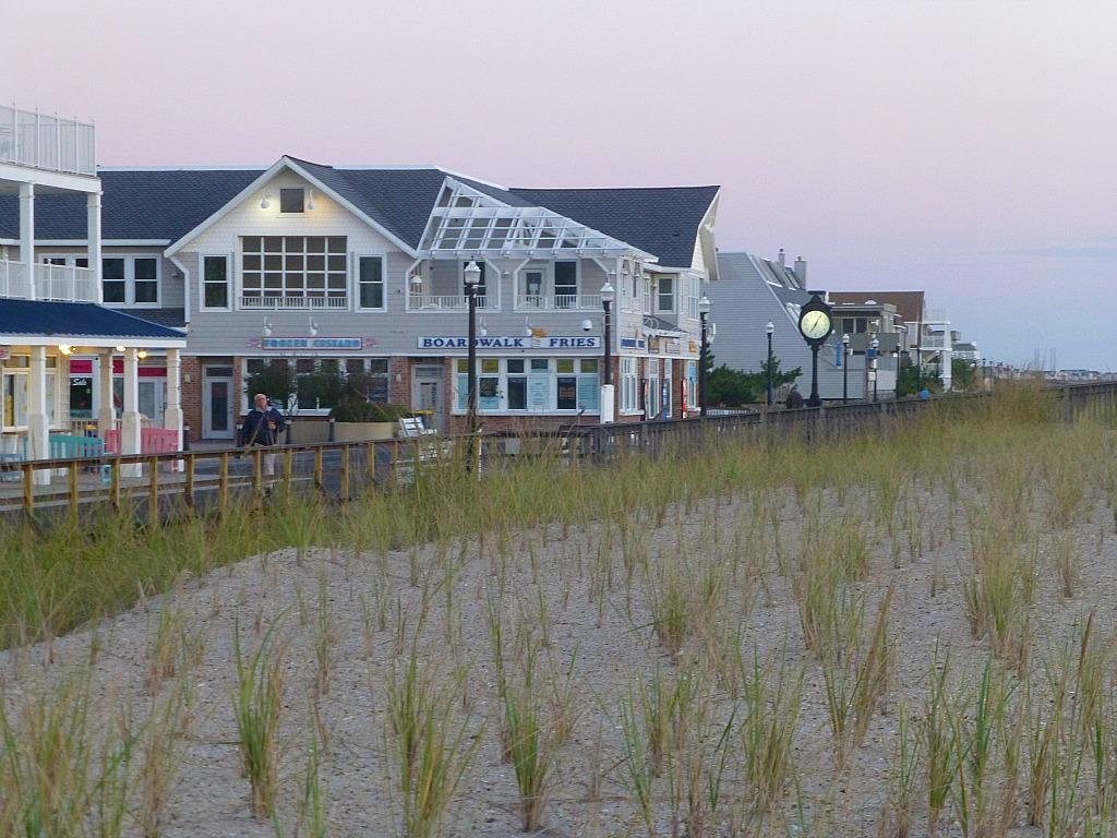 Bethany Beach Boardwalk at Sunset