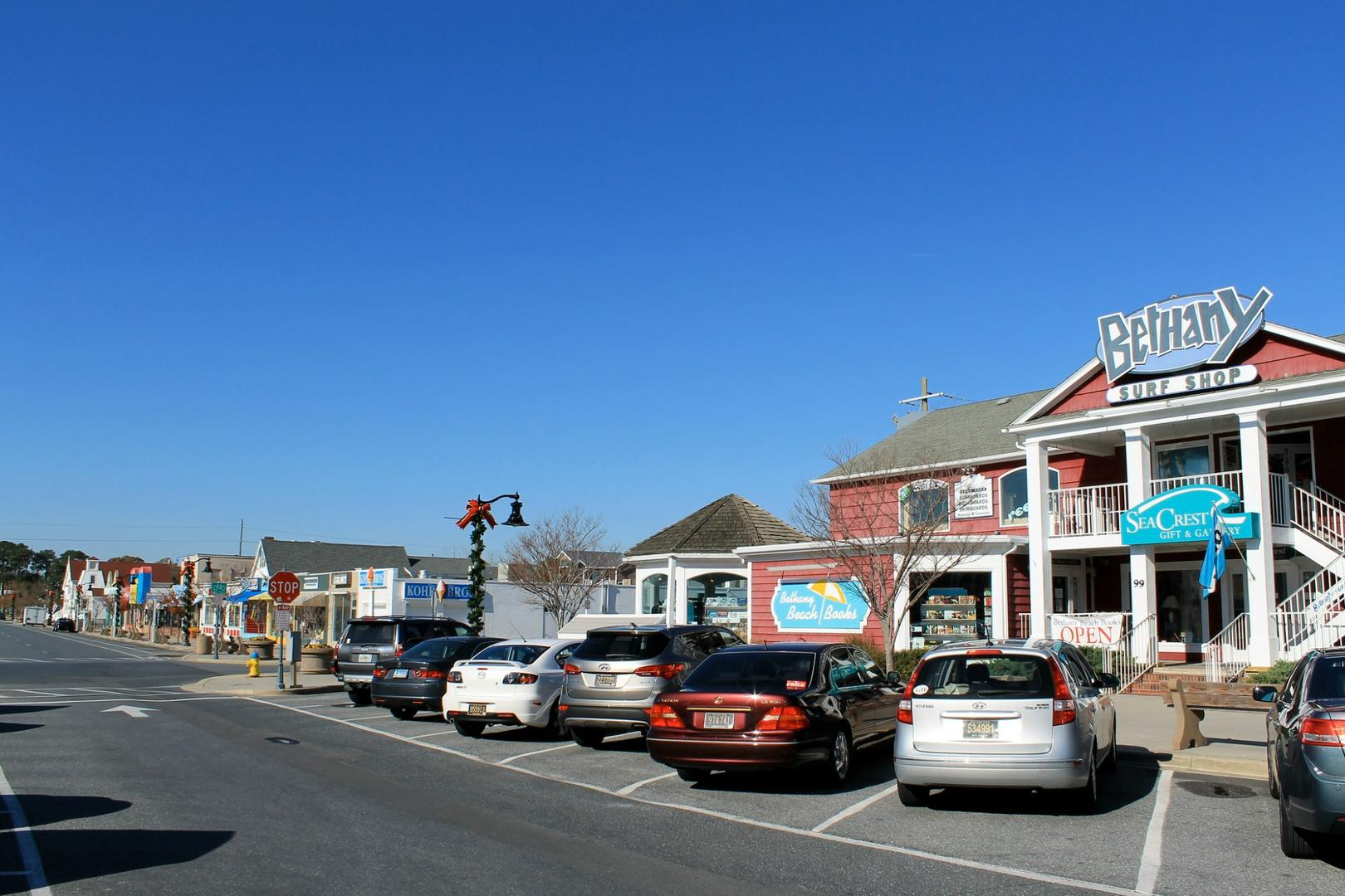 Bethany Beach Downtown Area