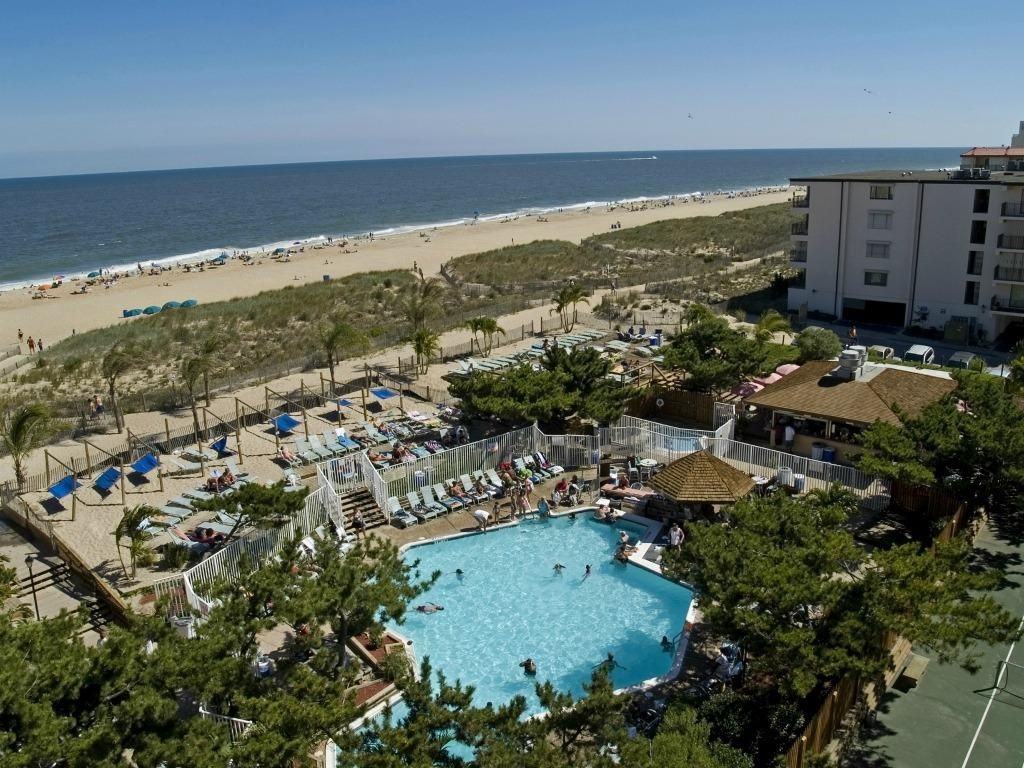 Aerial View of Ocean Pines Beach Club (49th St. in Ocean City)