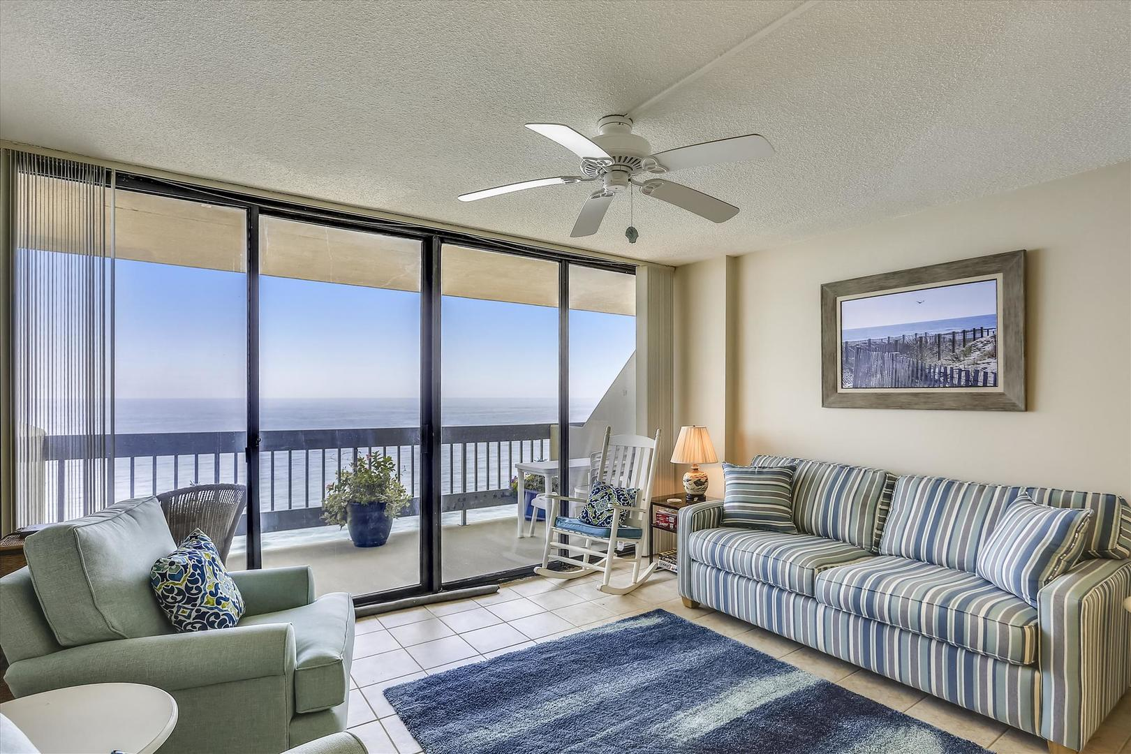 Century I 2221 - Living Room with Ocean Views