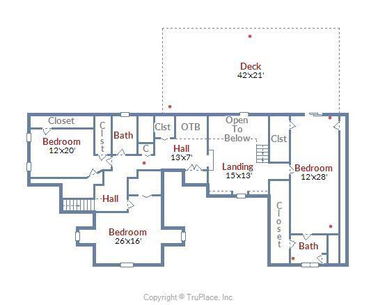 Main House Floorplan 2nd Level