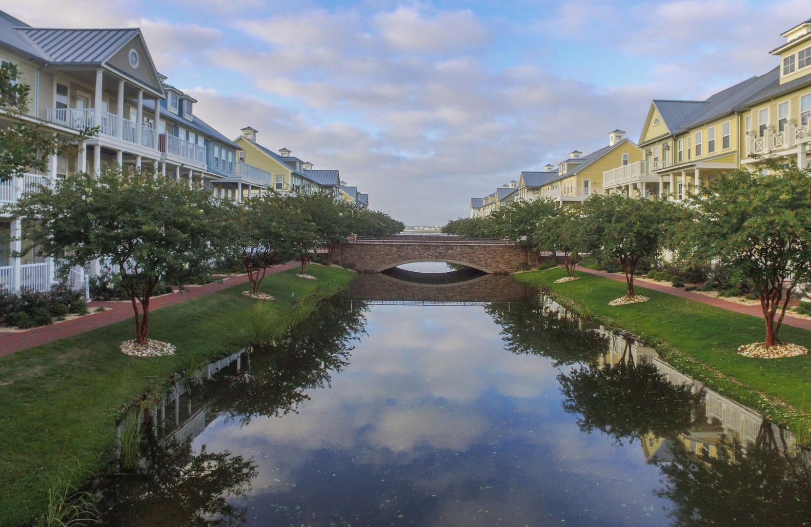 Sunset Island Canal and Bridges