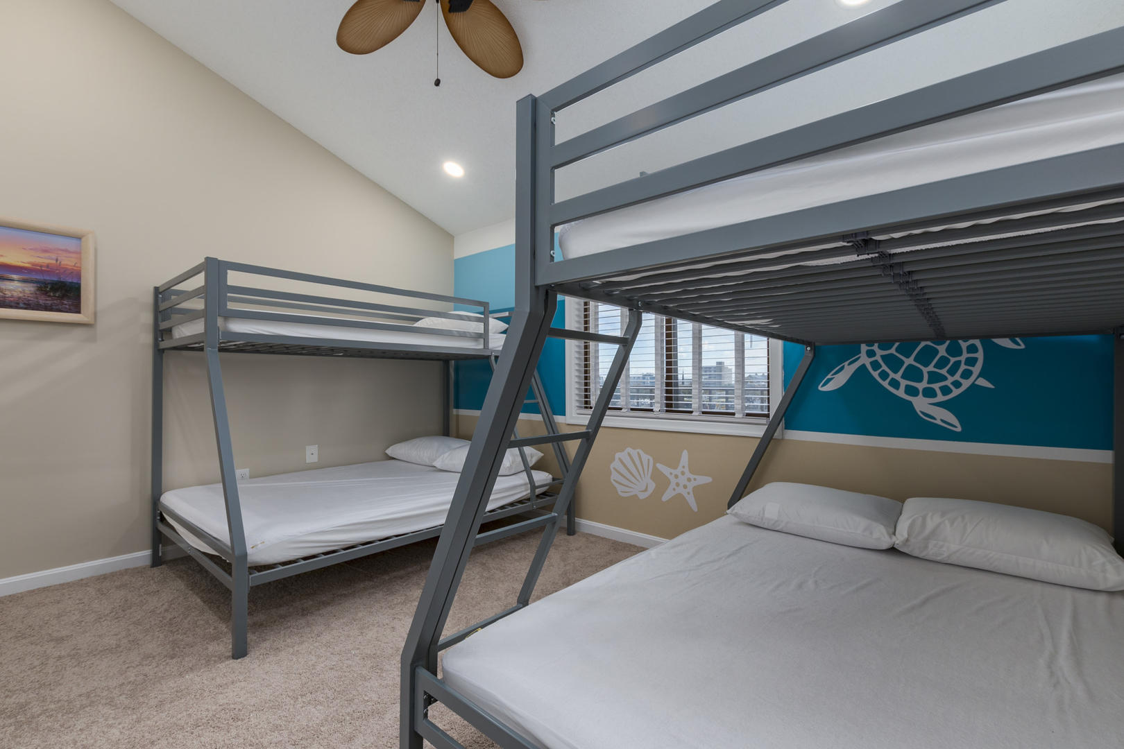 Crab Cove on the Bay 404 - Bedroom with 2 Pyramid Bunk Beds