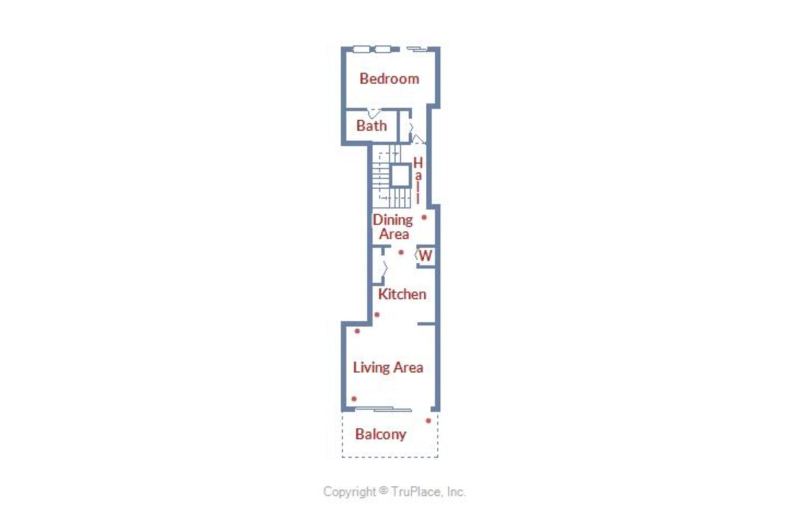 Century I 1401 - Lower Level Floor Plan